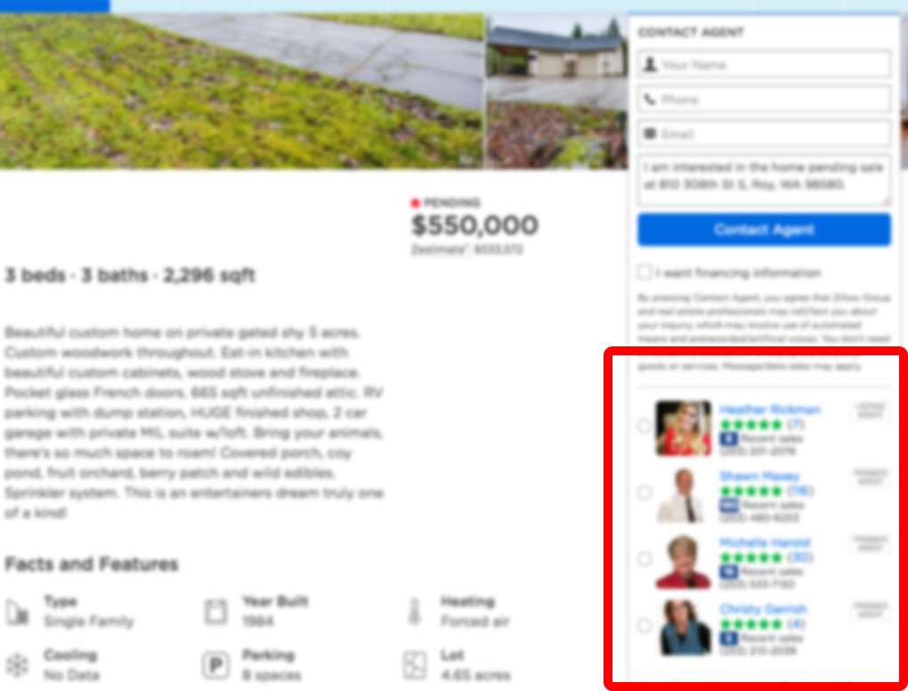 Zillow home listing other agency the american dream for Call zillow